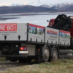Foliering av lastebil for Mesterhus